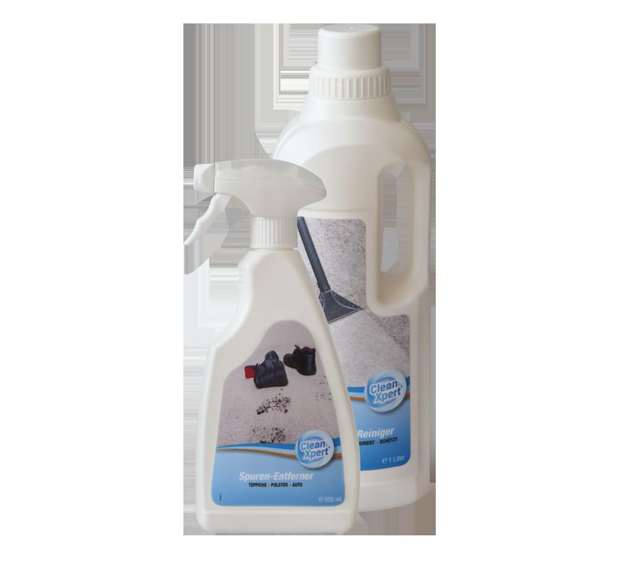 Warum mit CleanXpert ® ?   Nur CleanXpert ®  besitzt den integrierten Fleckenschutz. So bleiben Teppiche und Textilien länger sauber!